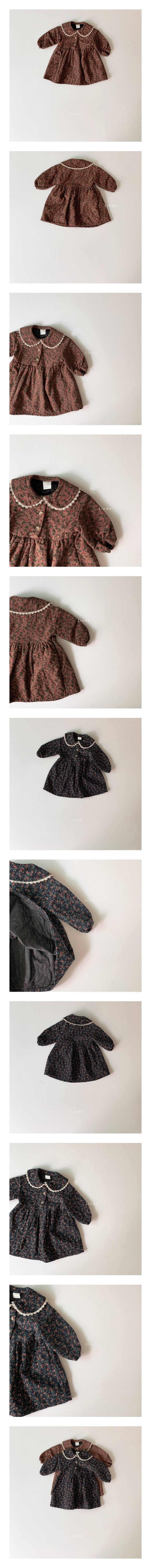 LINDO - Korean Children Fashion - #Kfashion4kids - Camellia One-piece
