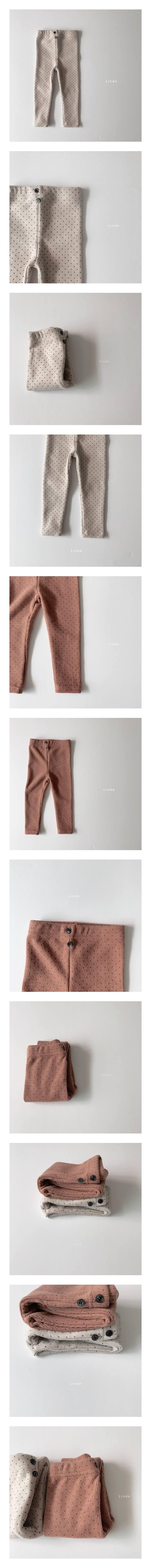 LINDO - Korean Children Fashion - #Kfashion4kids - Peach Dot Leggings