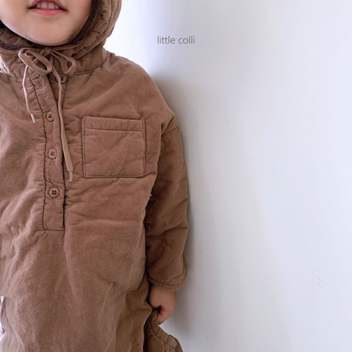 LITTLE COLLI - BRAND - Korean Children Fashion - #Kfashion4kids - Long Padding One-piece
