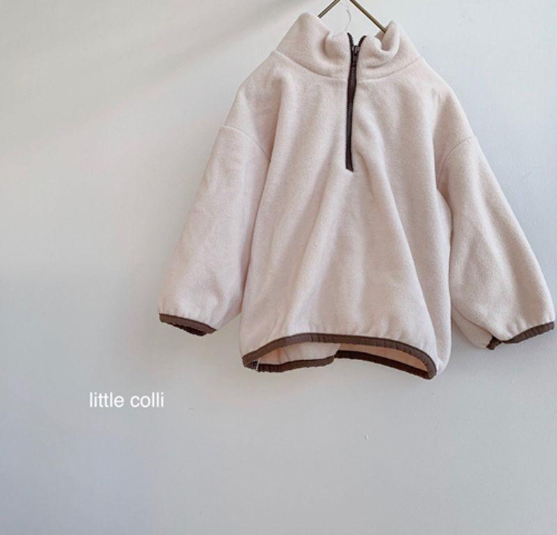 LITTLE COLLI - Korean Children Fashion - #Kfashion4kids - Fleece Top Bottom Set - 10