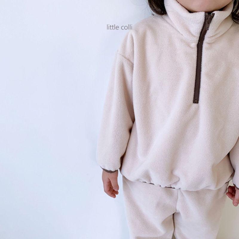 LITTLE COLLI - Korean Children Fashion - #Kfashion4kids - Fleece Top Bottom Set - 2