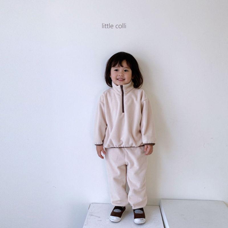 LITTLE COLLI - Korean Children Fashion - #Kfashion4kids - Fleece Top Bottom Set - 4