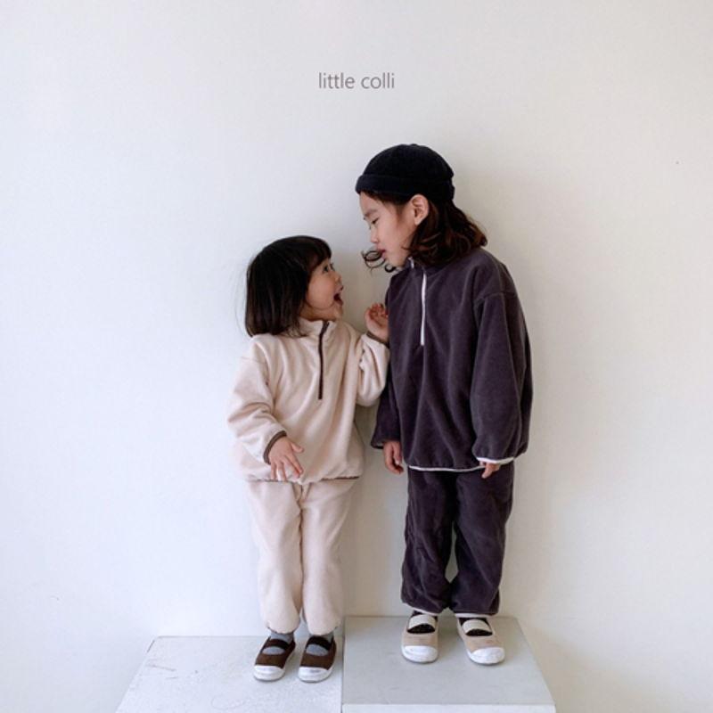 LITTLE COLLI - Korean Children Fashion - #Kfashion4kids - Fleece Top Bottom Set - 5