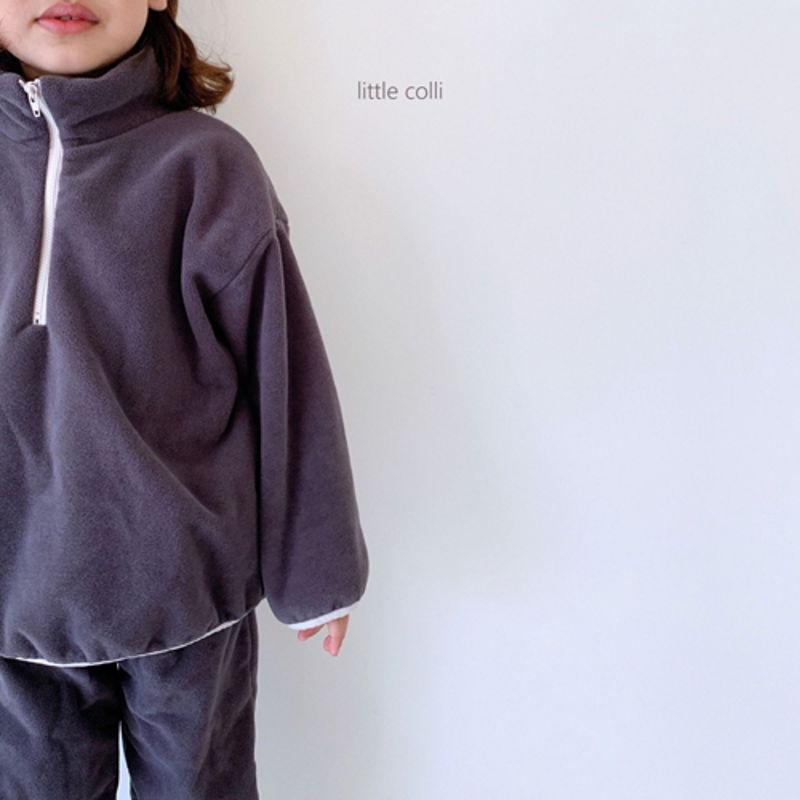 LITTLE COLLI - Korean Children Fashion - #Kfashion4kids - Fleece Top Bottom Set - 7