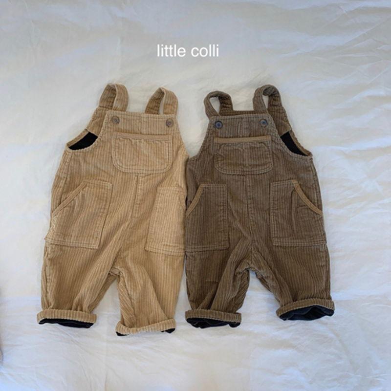 LITTLE COLLI - Korean Children Fashion - #Kfashion4kids - Kangaroo Suspender Jumpsuit