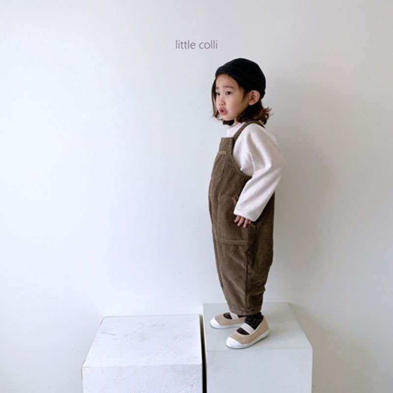 LITTLE COLLI - Korean Children Fashion - #Kfashion4kids - Kangaroo Suspender Jumpsuit - 2