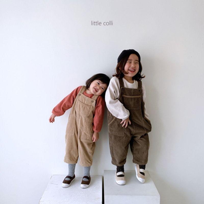 LITTLE COLLI - Korean Children Fashion - #Kfashion4kids - Kangaroo Suspender Jumpsuit - 4