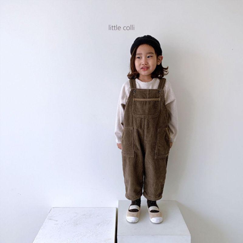 LITTLE COLLI - Korean Children Fashion - #Kfashion4kids - Kangaroo Suspender Jumpsuit - 5