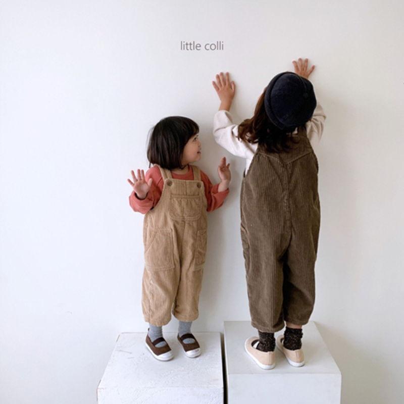 LITTLE COLLI - Korean Children Fashion - #Kfashion4kids - Kangaroo Suspender Jumpsuit - 6