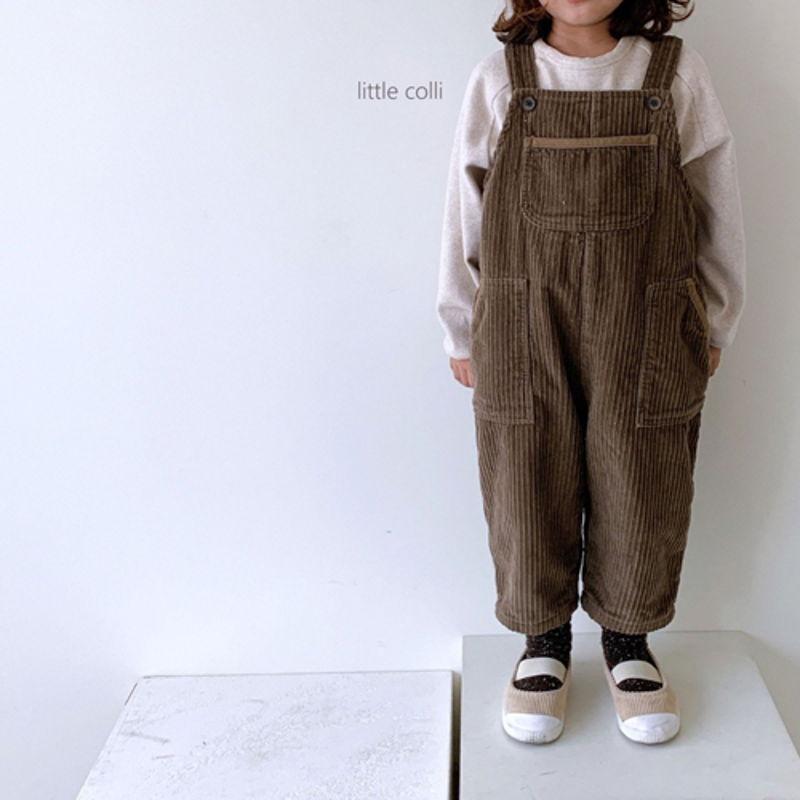 LITTLE COLLI - Korean Children Fashion - #Kfashion4kids - Kangaroo Suspender Jumpsuit - 7