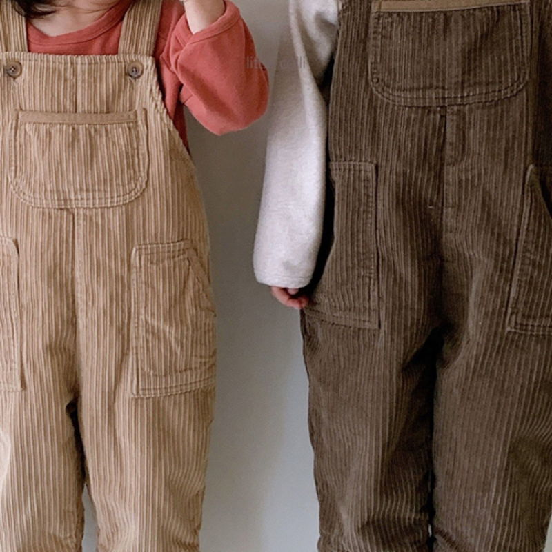 LITTLE COLLI - Korean Children Fashion - #Kfashion4kids - Kangaroo Suspender Jumpsuit - 9