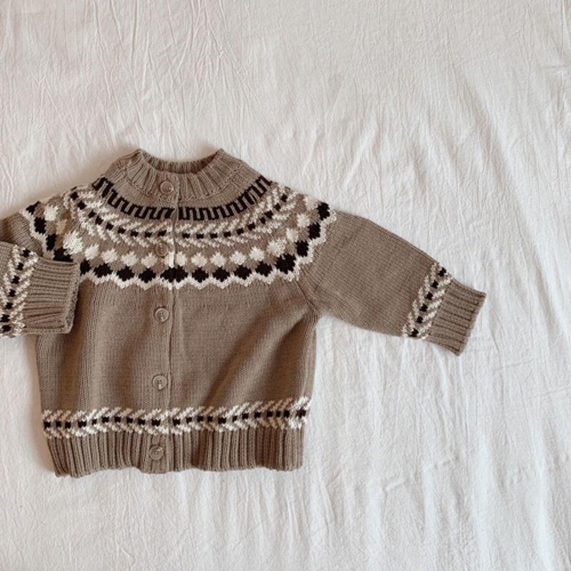 LITTLE COLLI - Korean Children Fashion - #Kfashion4kids - Nordic Cardigan - 11