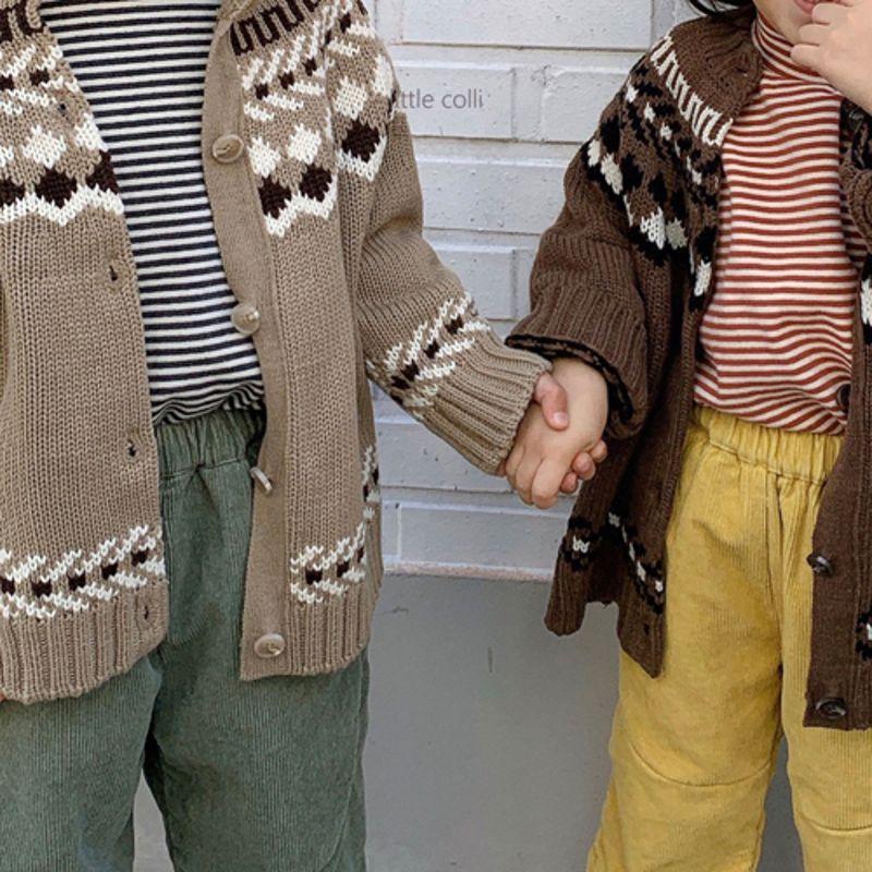 LITTLE COLLI - Korean Children Fashion - #Kfashion4kids - Nordic Cardigan - 2