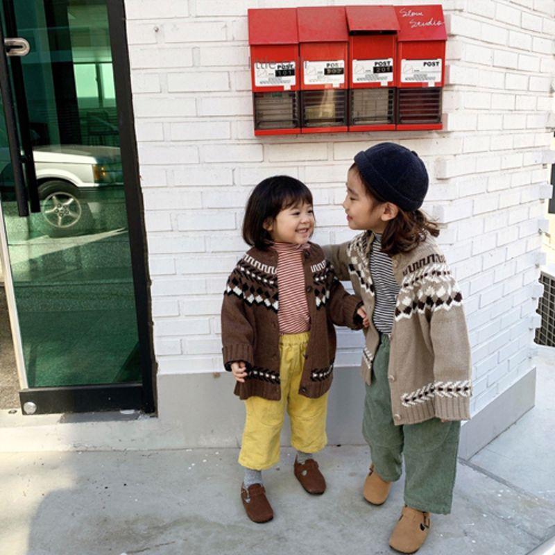 LITTLE COLLI - Korean Children Fashion - #Kfashion4kids - Nordic Cardigan - 3