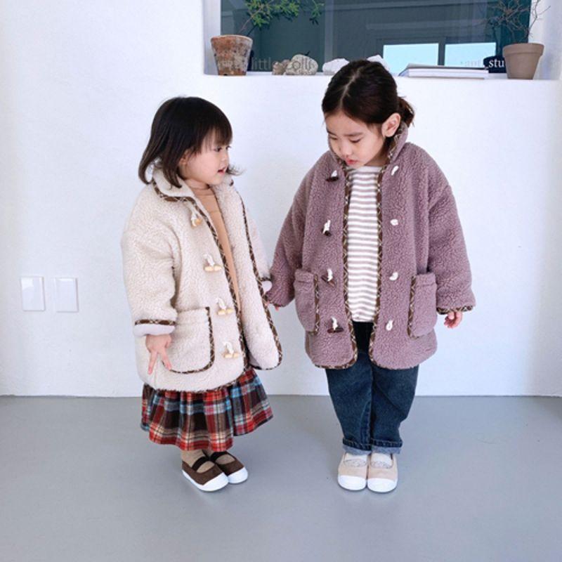 LITTLE COLLI - Korean Children Fashion - #Kfashion4kids - Bear Button Coat