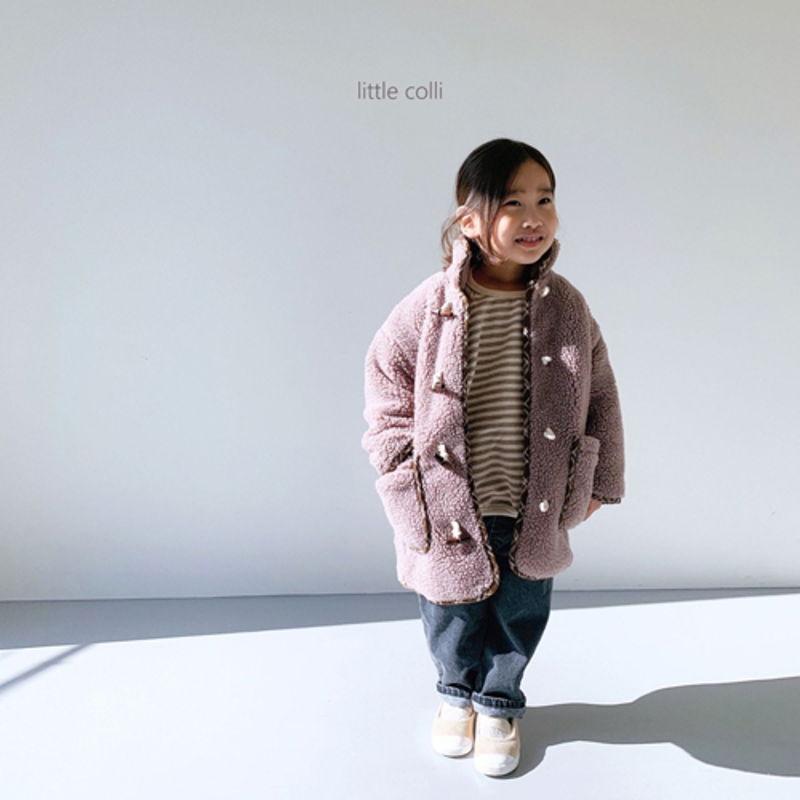 LITTLE COLLI - Korean Children Fashion - #Kfashion4kids - Bear Button Coat - 2