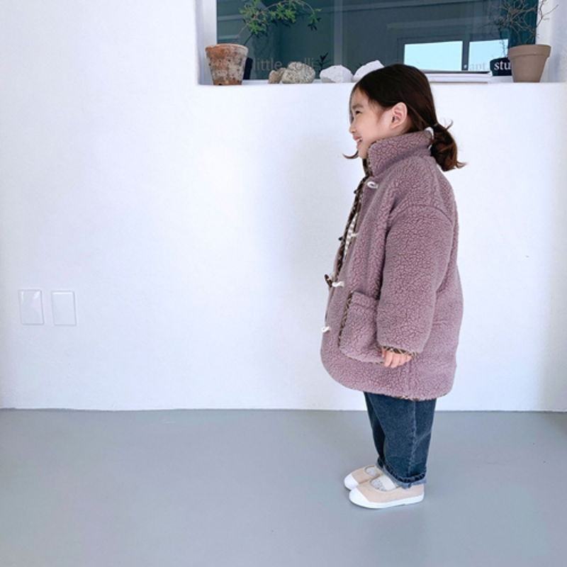 LITTLE COLLI - Korean Children Fashion - #Kfashion4kids - Bear Button Coat - 4