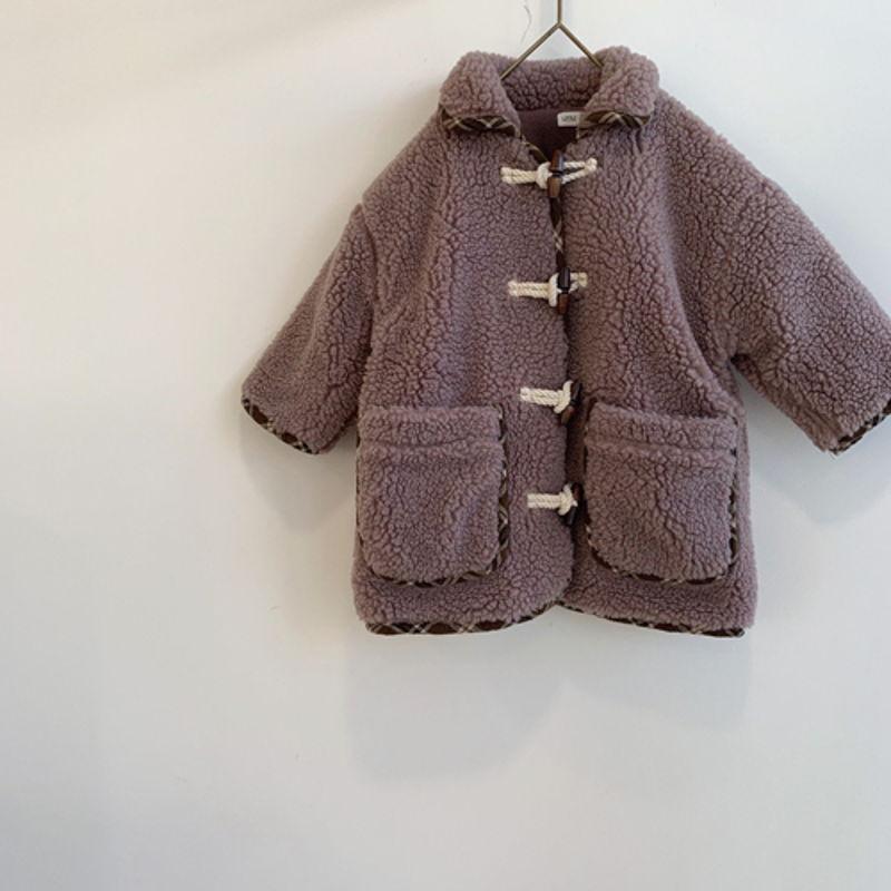 LITTLE COLLI - Korean Children Fashion - #Kfashion4kids - Bear Button Coat - 5