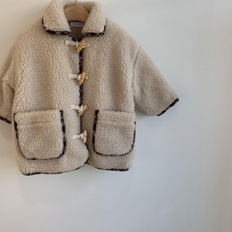 LITTLE COLLI - Korean Children Fashion - #Kfashion4kids - Bear Button Coat - 7