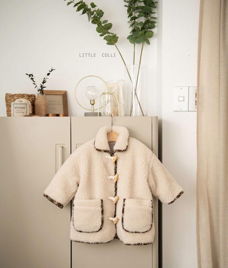 LITTLE COLLI - Korean Children Fashion - #Kfashion4kids - Bear Button Coat - 8
