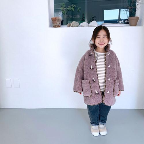 LITTLE COLLI - BRAND - Korean Children Fashion - #Kfashion4kids - Bear Button Coat