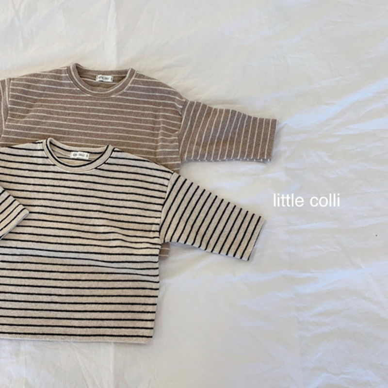 LITTLE COLLI - Korean Children Fashion - #Kfashion4kids - Soft Stripe Tee - 11