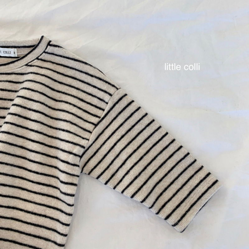 LITTLE COLLI - Korean Children Fashion - #Kfashion4kids - Soft Stripe Tee - 12