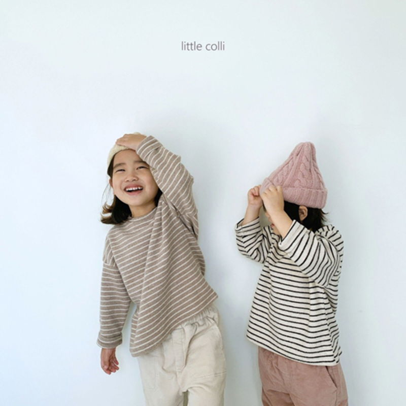 LITTLE COLLI - Korean Children Fashion - #Kfashion4kids - Soft Stripe Tee - 5