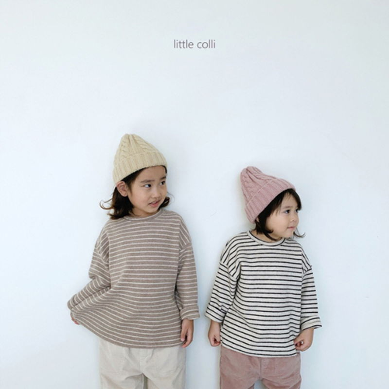 LITTLE COLLI - Korean Children Fashion - #Kfashion4kids - Soft Stripe Tee - 6
