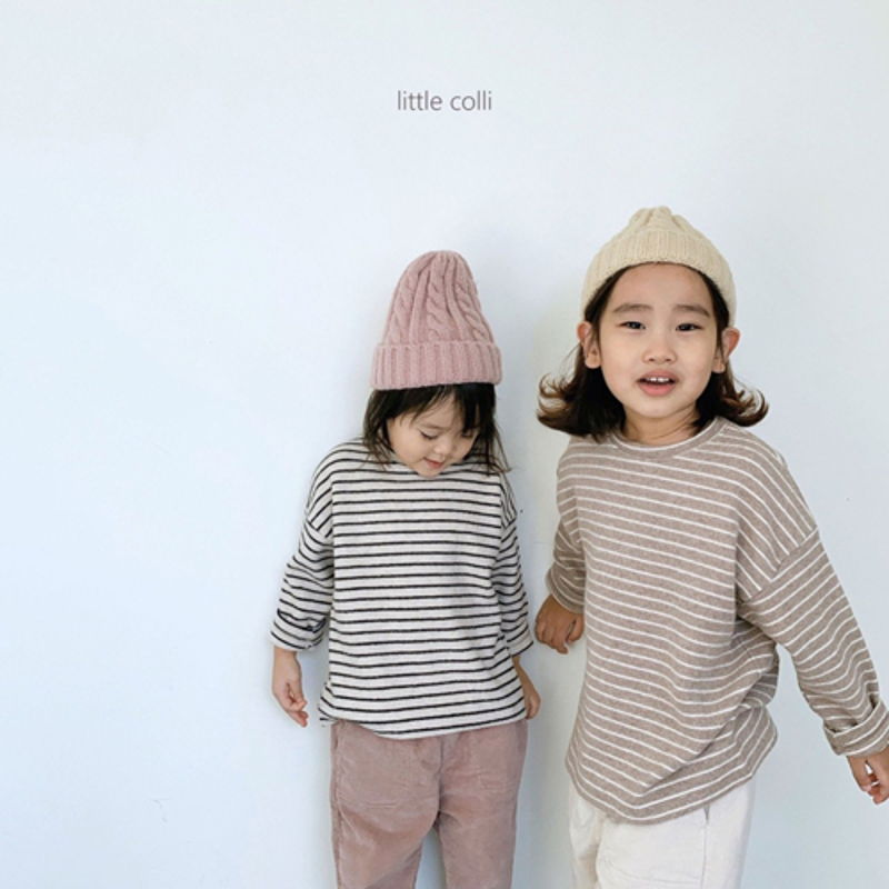 LITTLE COLLI - Korean Children Fashion - #Kfashion4kids - Soft Stripe Tee - 8