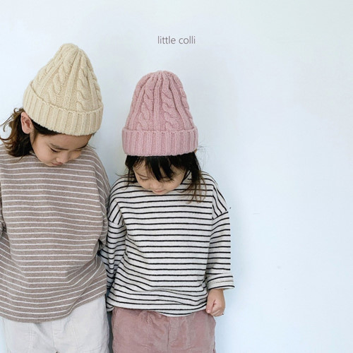 LITTLE COLLI - BRAND - Korean Children Fashion - #Kfashion4kids - Soft Stripe Tee