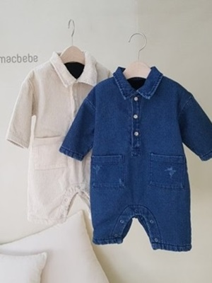 MAC - BRAND - Korean Children Fashion - #Kfashion4kids - Mink Pocket Jumpsuit