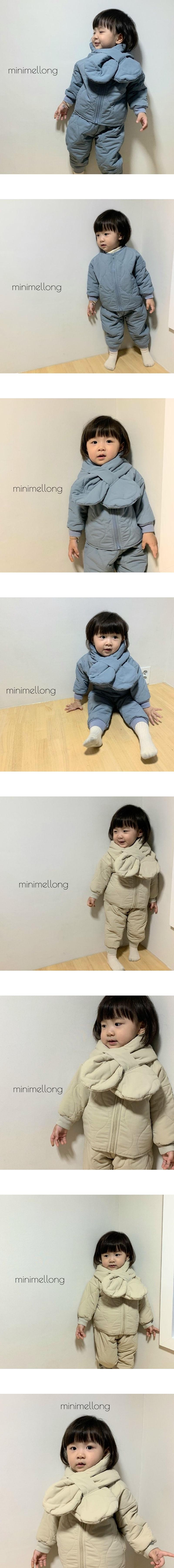 MINIMELLONG - Korean Children Fashion - #Kfashion4kids - Quilting Top Bottom Set with Neck Warmer
