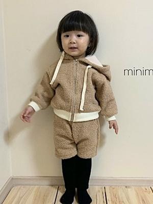 MINIMELLONG - BRAND - Korean Children Fashion - #Kfashion4kids - Pompom Top Bottom Set
