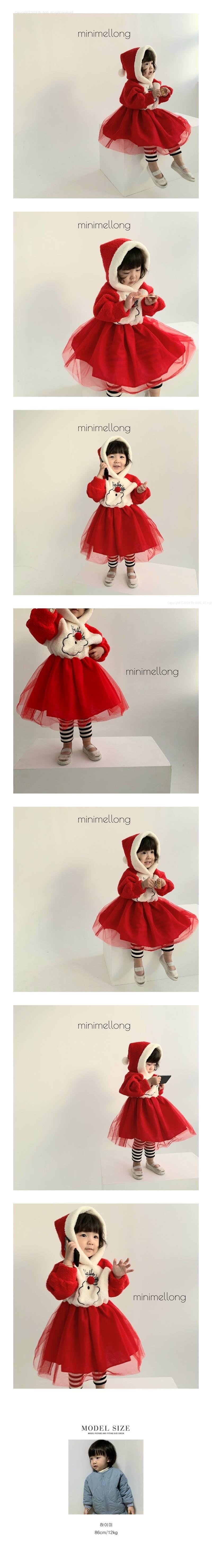 MINIMELLONG - Korean Children Fashion - #Kfashion4kids - Santa Hood Cha One-piece