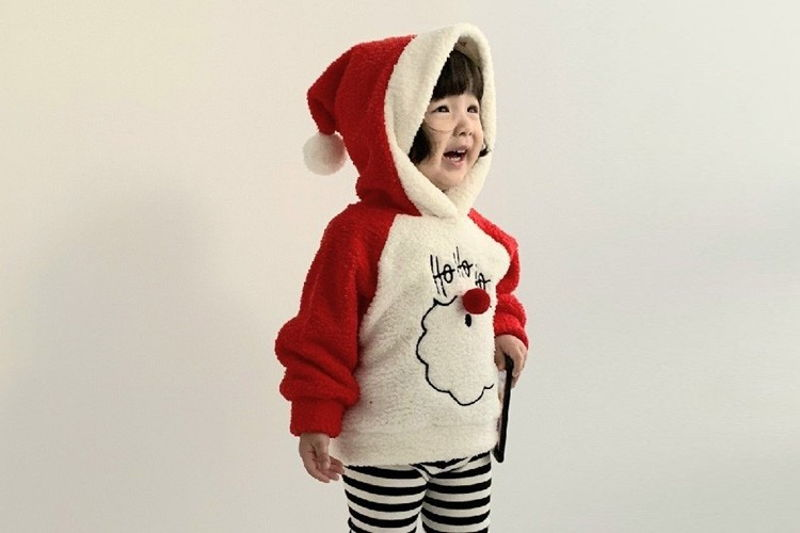 MINIMELLONG - BRAND - Korean Children Fashion - #Kfashion4kids - Fleece Santa Hood MTM