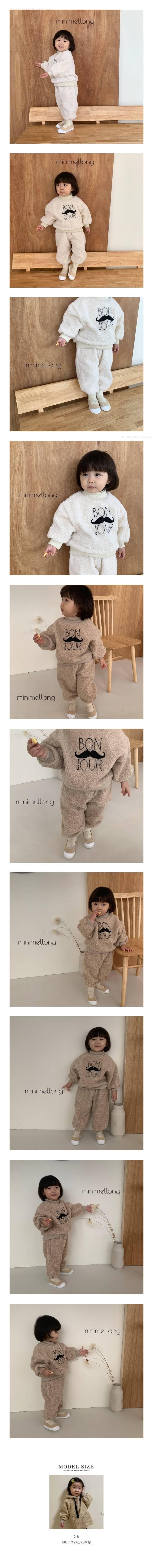 MINIMELLONG - Korean Children Fashion - #Kfashion4kids - Dumble Bon Jour Top Bottom Set