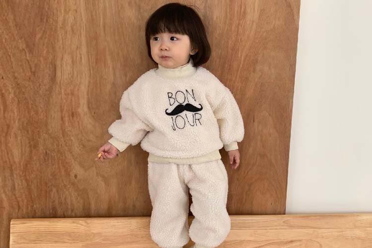 MINIMELLONG - BRAND - Korean Children Fashion - #Kfashion4kids - Dumble Bon Jour Top Bottom Set
