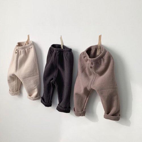 MONBEBE - Korean Children Fashion - #Kfashion4kids - Fleece Button Pants