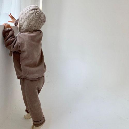 MONBEBE - Korean Children Fashion - #Kfashion4kids - Fleece Button Pants - 11