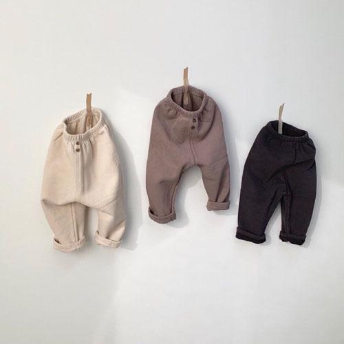 MONBEBE - Korean Children Fashion - #Kfashion4kids - Fleece Button Pants - 12