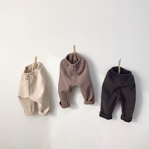 MONBEBE - Korean Children Fashion - #Kfashion4kids - Fleece Button Pants - 3