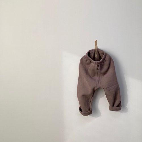 MONBEBE - Korean Children Fashion - #Kfashion4kids - Fleece Button Pants - 4