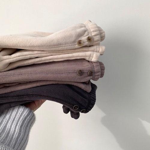 MONBEBE - Korean Children Fashion - #Kfashion4kids - Fleece Button Pants - 5