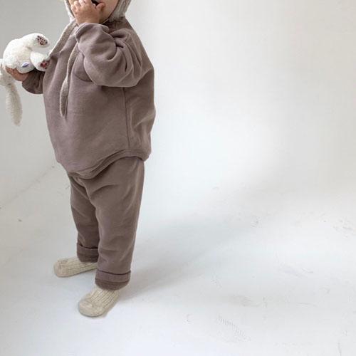 MONBEBE - Korean Children Fashion - #Kfashion4kids - Fleece Button Pants - 8