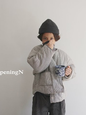 OPENING & - BRAND - Korean Children Fashion - #Kfashion4kids - BB Check Jacket