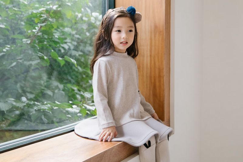ORANGE MOM - BRAND - Korean Children Fashion - #Kfashion4kids - Stripe Rabbie One-piece