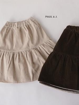 PAUL & J - BRAND - Korean Children Fashion - #Kfashion4kids - Corduroy Long Skirt