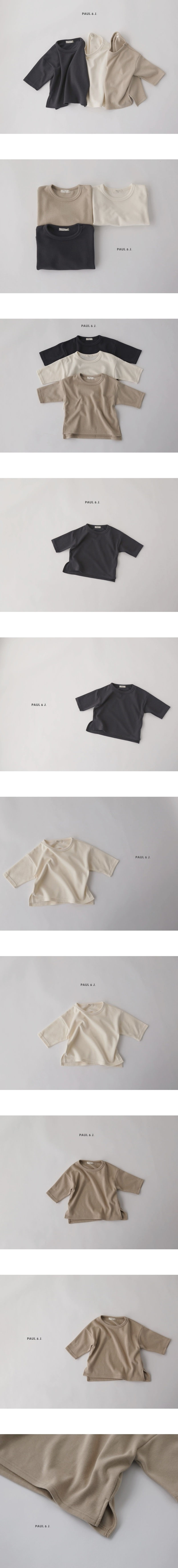 PAUL & J - Korean Children Fashion - #Kfashion4kids - Layered Long Tee