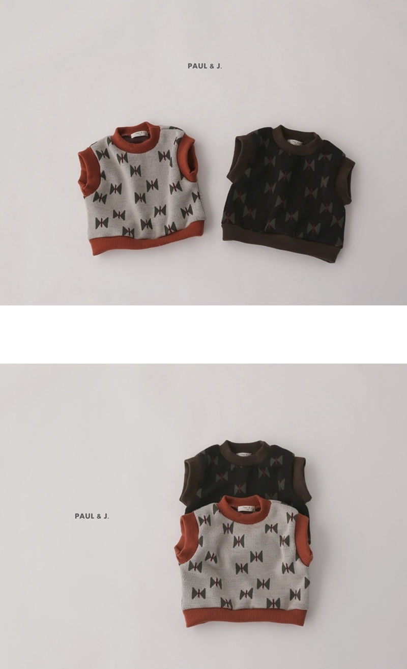 PAUL & J - Korean Children Fashion - #Kfashion4kids - Ribbon Knit Vest